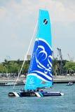 Wave, Muscat, praticante alla serie di navigazione estrema Singapore 2013 Immagine Stock