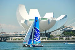 The Wave, Muscat sailing at Extreme Sailing Series Singapore 2013 Stock Image