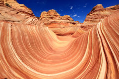 The Wave Navajo Sand Formation in Arizona USA Stock Photo