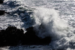 Wave and Northern California Coastline Royalty Free Stock Photography