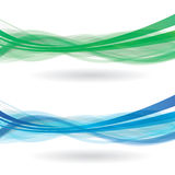 Wave objects 3d Royalty Free Stock Photography