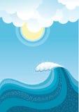 Wave in ocean. Stock Images