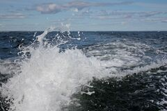 Wave in ocean Stock Photography