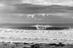 Wave Ocean Black White Royalty Free Stock Photo