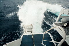 Wave by cruise ship Royalty Free Stock Photos