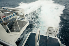 Wave by cruise ship Stock Photos