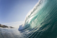 Wave Ocean. Wave swimming inside ocean scenic crashing waters of powerful energy Stock Photo