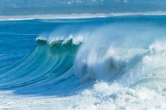 Wave Ocean Water Scenic Landscape. Summer ocean wave peak cresting crashing water scenic nature landscape Stock Image