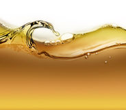 Wave of oil with air bubbles. Bright wave of oil with air bubbles as background Stock Photo