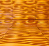 wave orange yellow pattern wall abstract Stock Photos