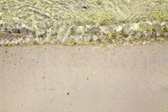 Wave på sanden Royaltyfria Bilder