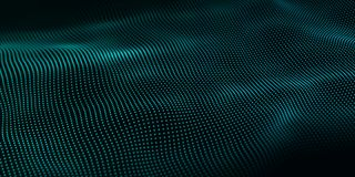 Wave of particles. Abstract background with a dynamic wave. Big data. Vector illustration vector illustration
