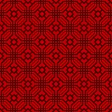 Japanese Octagon Pattern. On red background royalty free illustration