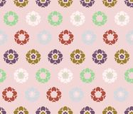 Japanese Cute Tiny Blossom Art Seamless Pattern stock images