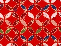 Japanese Square Leaf Art Seamless Pattern royalty free stock photo