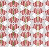 Japanese Wing Flower Art Seamless Pattern stock image