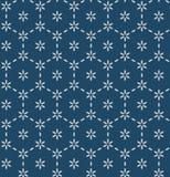 Japanese Indigo Hexagon Flower Art Seamless Pattern royalty free stock photo