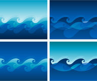 Wave pattern Stock Images