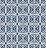 Japanese Blue Hippy Square Tile Seamless Pattern. On gray background vector illustration