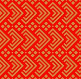 Japanese Diamond Seamless Pattern. On red background royalty free illustration