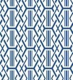 Japanese Hexagon Rectangle Seamless Pattern. On white background royalty free illustration