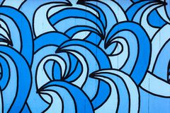 Wave pattern. Painted on wood boards Royalty Free Stock Images
