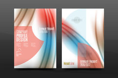 Wave pattern annual report business cover design Stock Photos