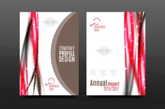 Wave pattern a4 annual report template Royalty Free Stock Photography