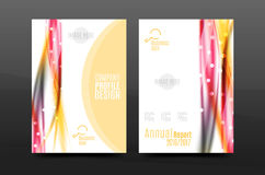 Wave pattern a4 annual report template Stock Photo