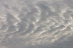 Wave pattern cloudy sky Royalty Free Stock Photography