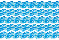Wave pattern. Cyan wave pattern with white lines Royalty Free Stock Photos
