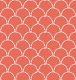 Wave pattern of dots. Royalty Free Stock Image
