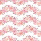 Wave pattern with roses Stock Photos