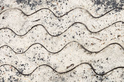 Wave pattern on sand Royalty Free Stock Photo