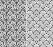 Wave pattern. Seamless fish scale background - vector illustration, fully editable, you can change form and color Stock Photography