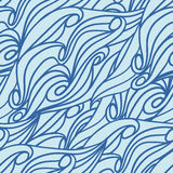 Wave pattern seamless texture. Vector illustration/ EPS 8 Stock Images