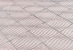 Wave pattern of stone tile Royalty Free Stock Images