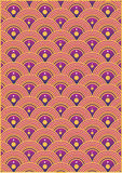 Wave Pattern. Wallpaper illustration style Royalty Free Stock Images