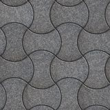 Wave Paving Slabs. Seamless Tileable Texture. Royalty Free Stock Image