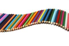 Wave of pencils Stock Photos
