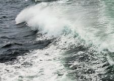 Wave clear blue water stock image