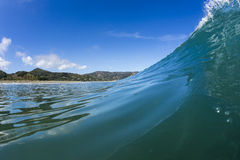 Wave Pitching, North Piha, New Zealand Stock Image