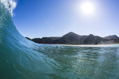 Wave Pitching, North Piha, New Zealand royalty free stock photos