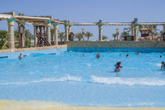 In a wave pool Stock Photos
