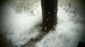 Wave and post Royalty Free Stock Photos
