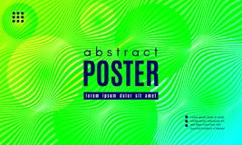 Wave Abstract Background with Color Fluid Shapes. Wave Poster with Fluid Shapes. Gradient Abstract Background with Movement of Wave Liquid Forms. Linear vector illustration