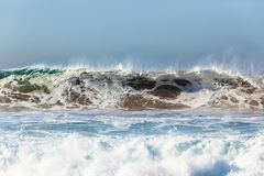 Wave Power Water Sand Danger Royalty Free Stock Photo