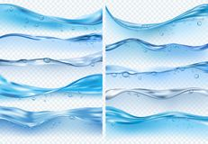 Free Wave Realistic Splashes. Liquid Water Surface With Bubbles And Splashes Ocean Or Sea Vector Backgrounds Royalty Free Stock Photo - 153966995