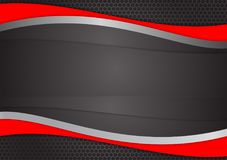 Wave Red and black abstract vector background vector illustration