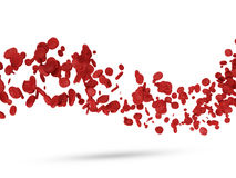 Wave from Red Blood Cells. On white background Stock Photography